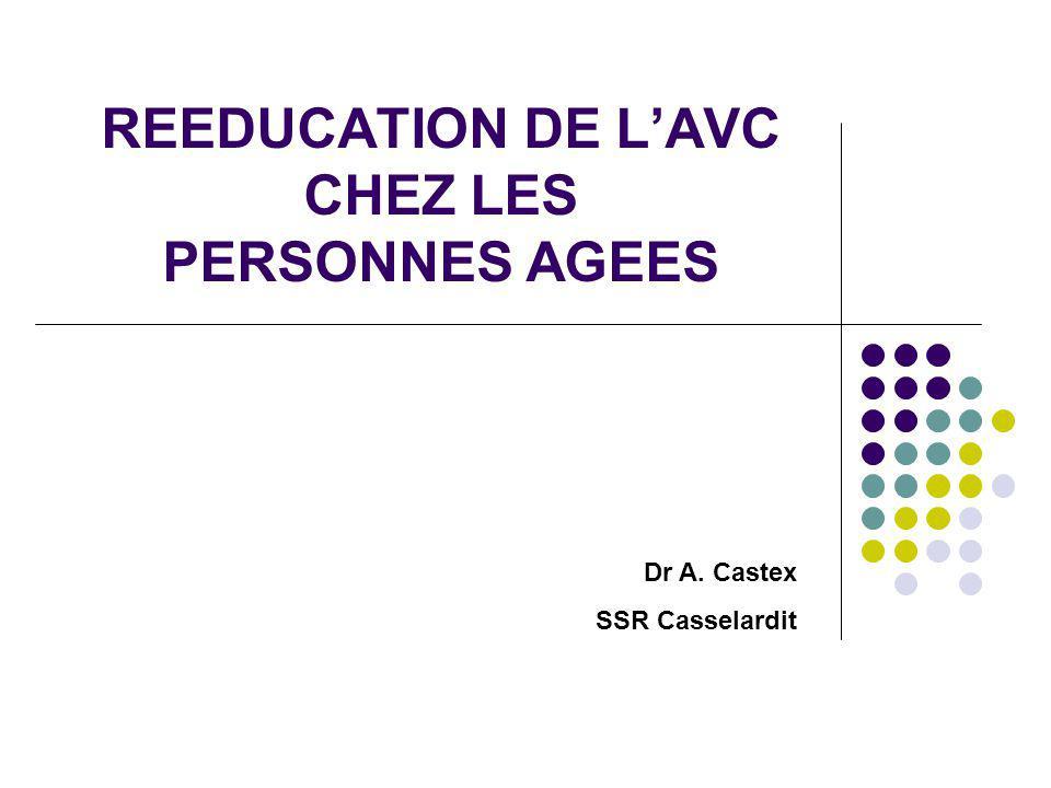REEDUCATION DE L'AVC CHEZ LES PERSONNES AGEES