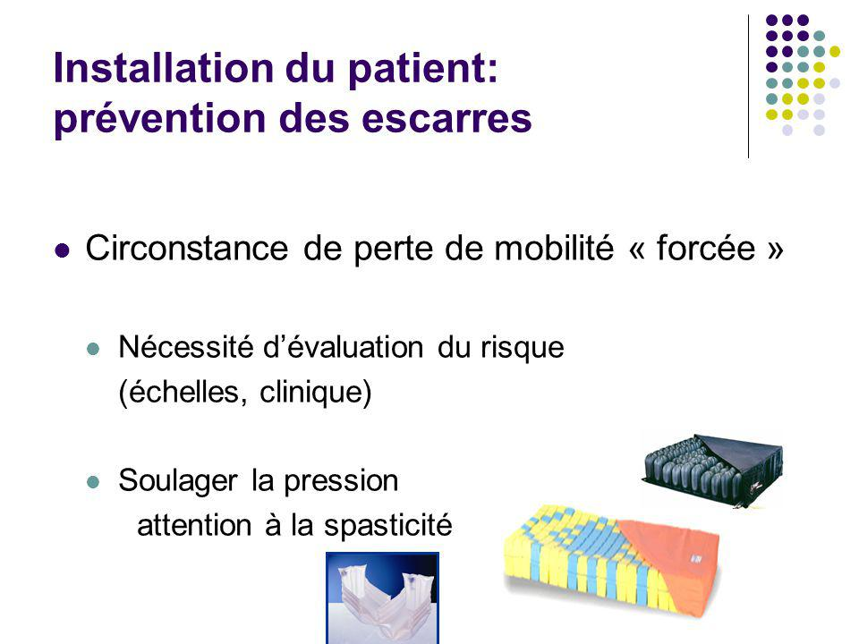 Installation du patient: prévention des escarres