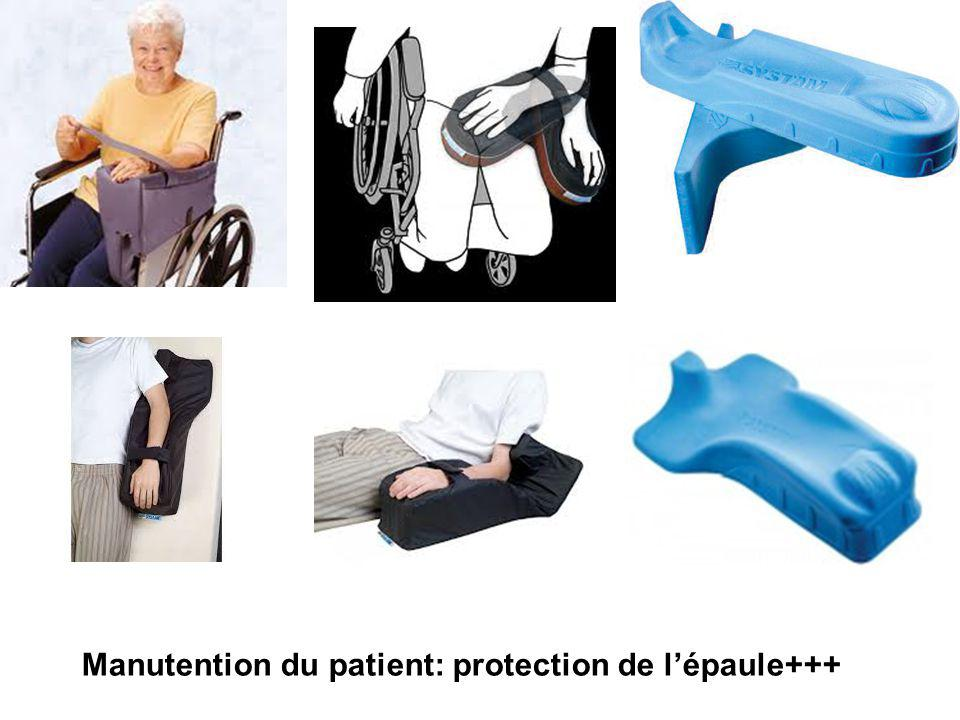 Manutention du patient: protection de l'épaule+++