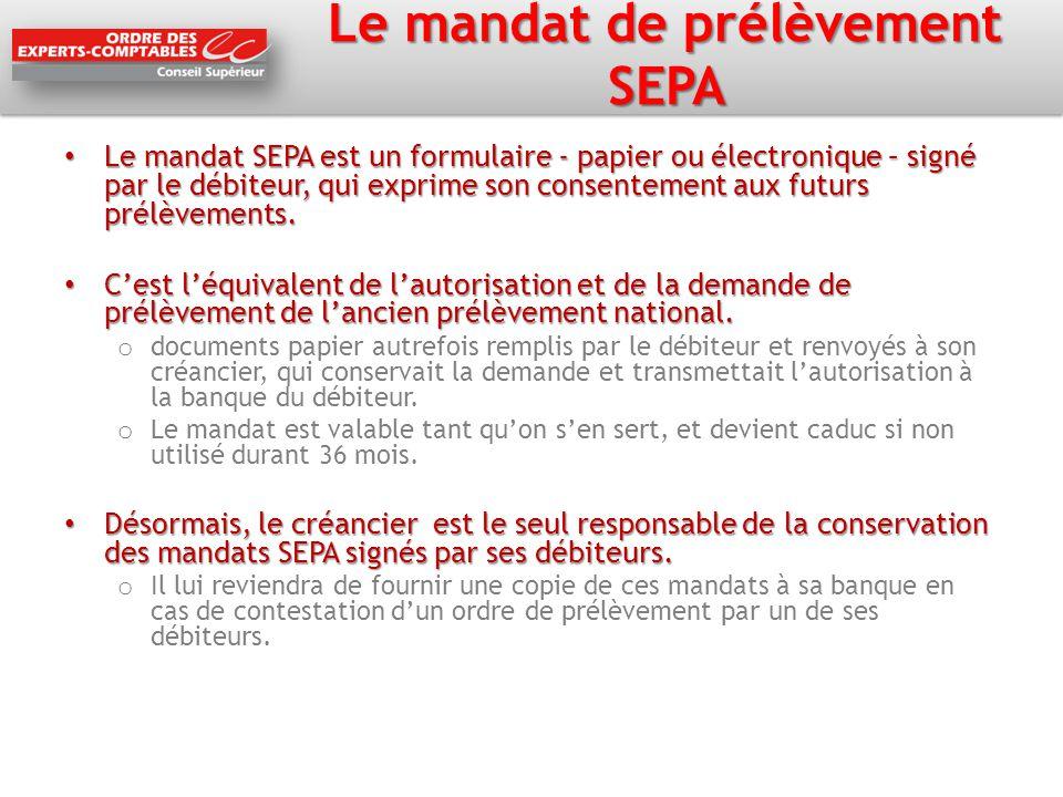 Le mandat de prélèvement SEPA