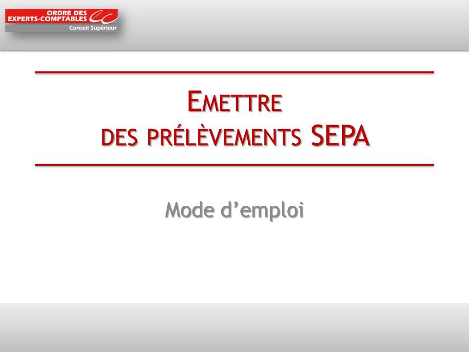 Emettre des prélèvements SEPA
