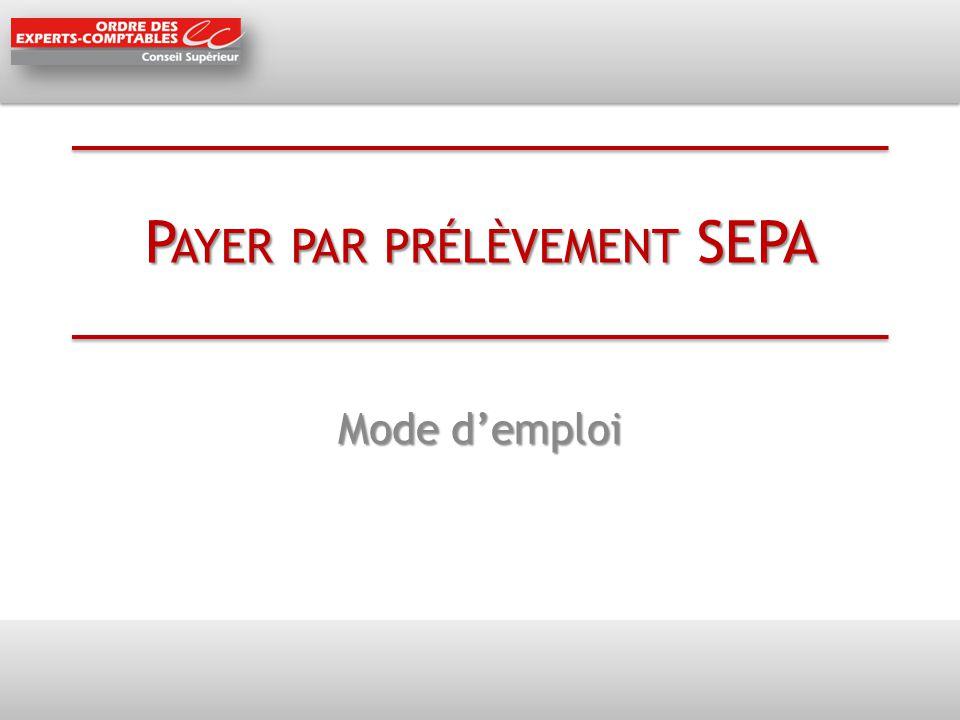 Payer par prélèvement SEPA