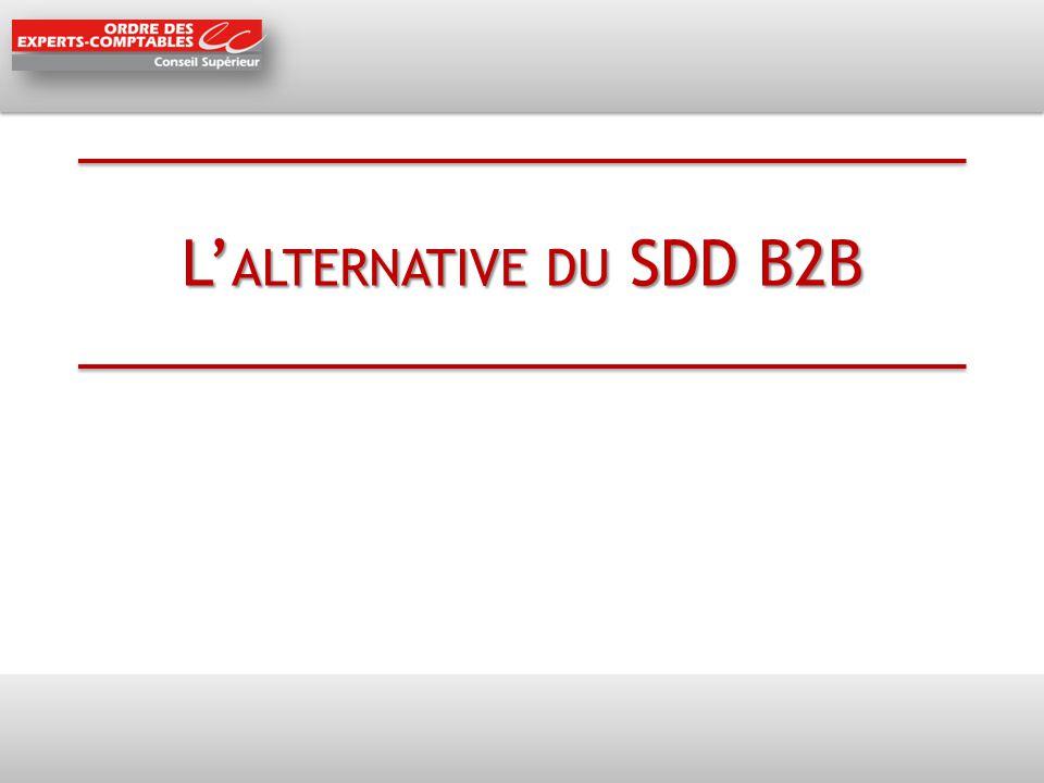 L'alternative du SDD B2B