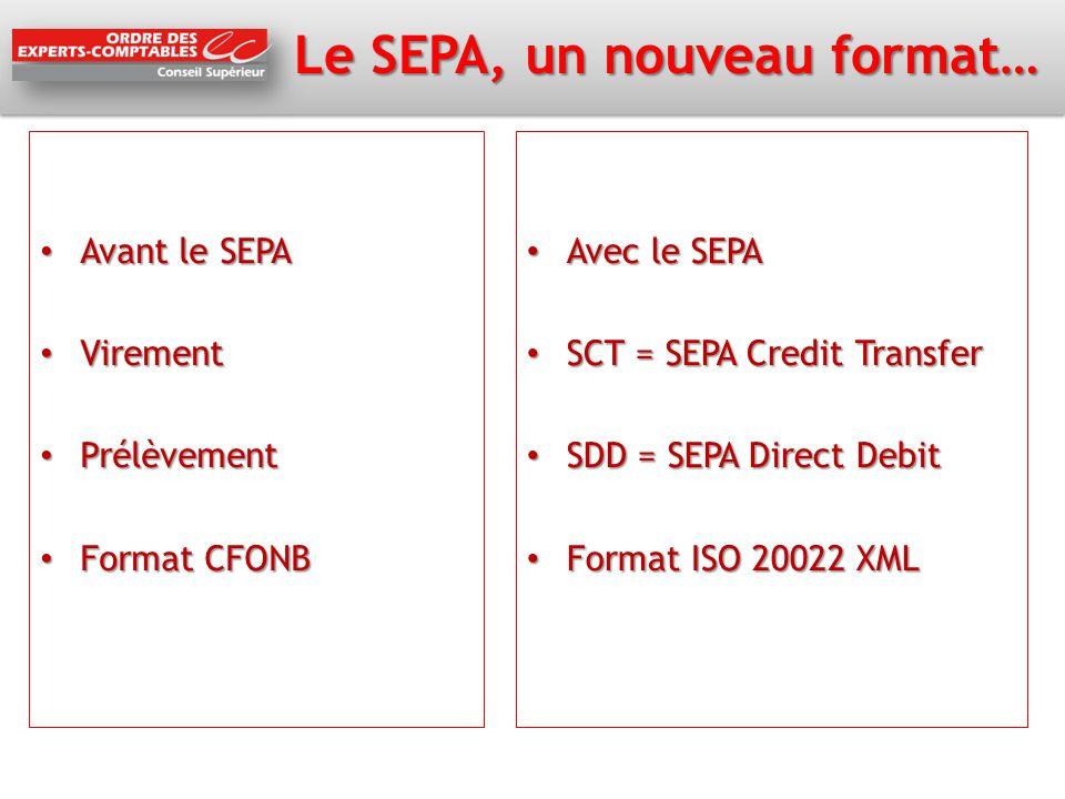 Le SEPA, un nouveau format…