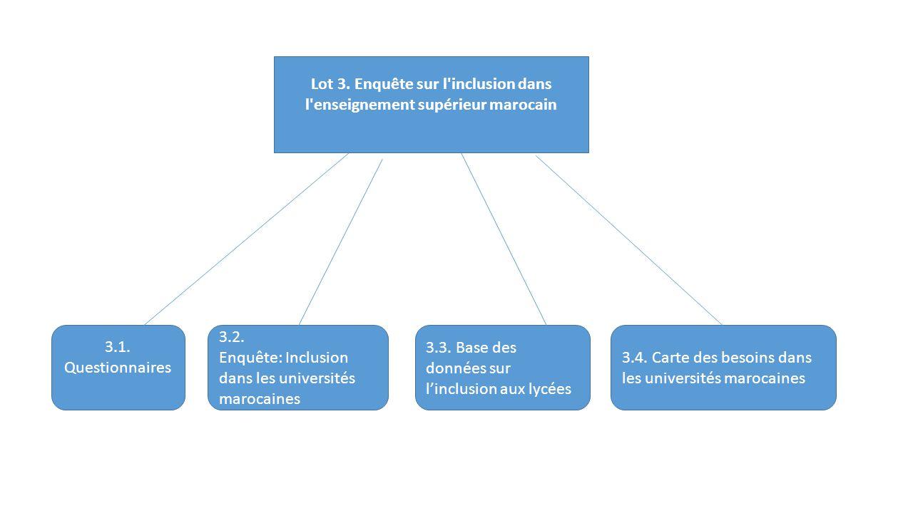 Lot 3. Enquête sur l inclusion dans l enseignement supérieur marocain