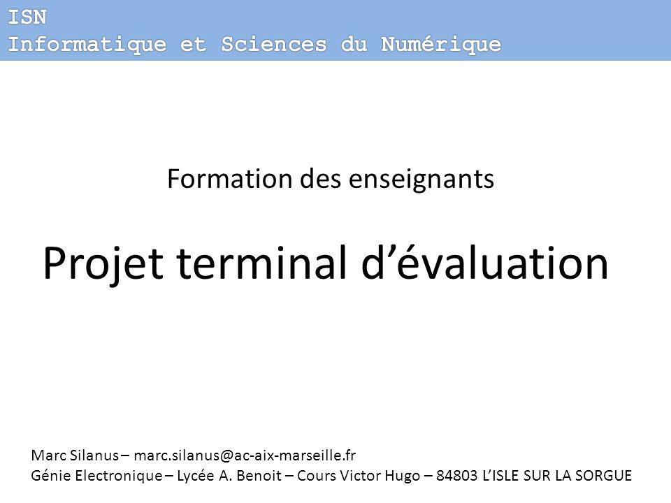 Projet terminal d'évaluation