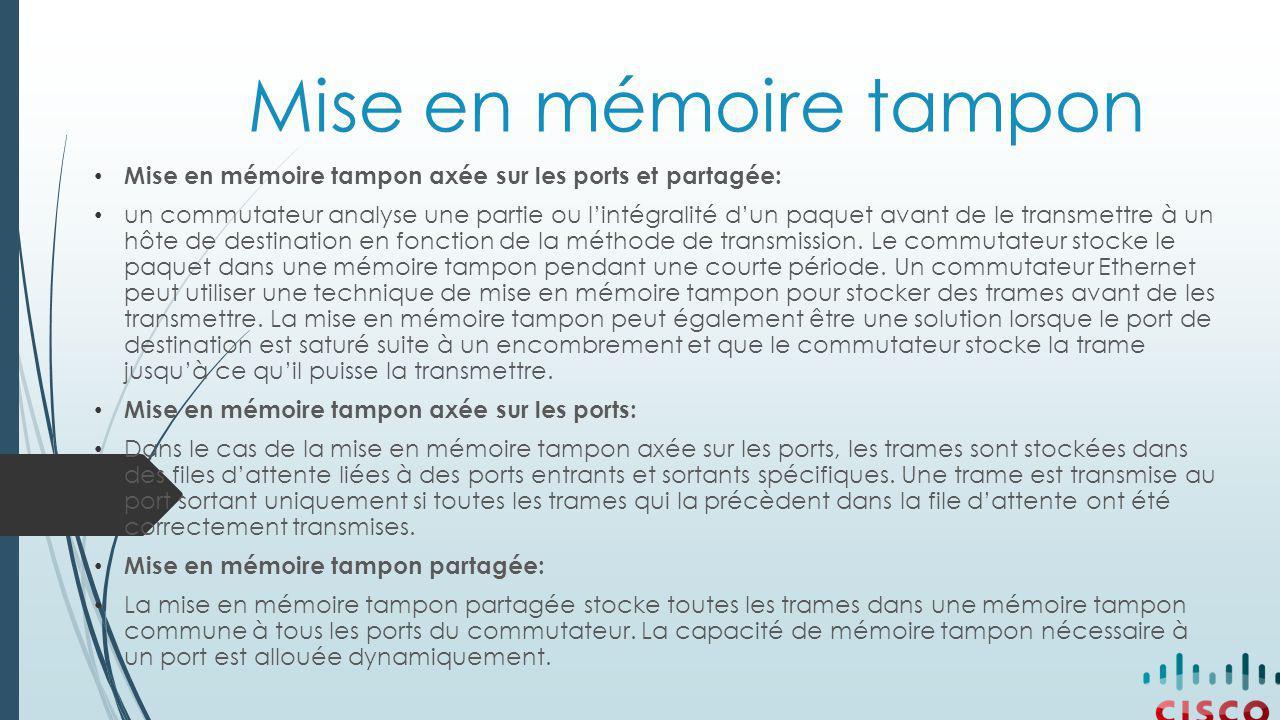 Mise en mémoire tampon Mise en mémoire tampon axée sur les ports et partagée: