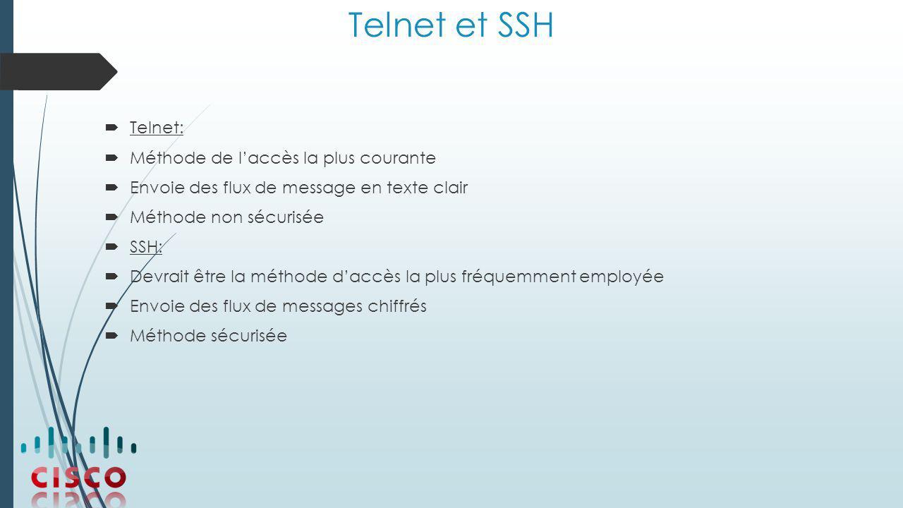 Telnet et SSH Telnet: Méthode de l'accès la plus courante
