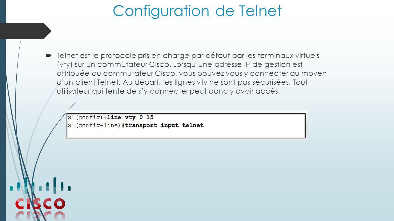Configuration de Telnet