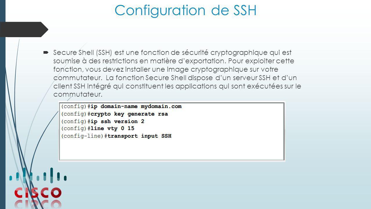 Configuration de SSH