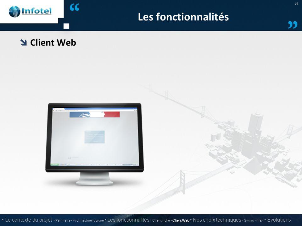 Les fonctionnalités Client Web