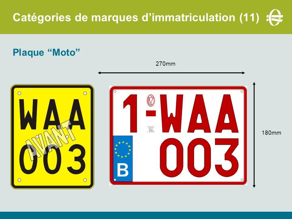 Catégories de marques d'immatriculation (11)