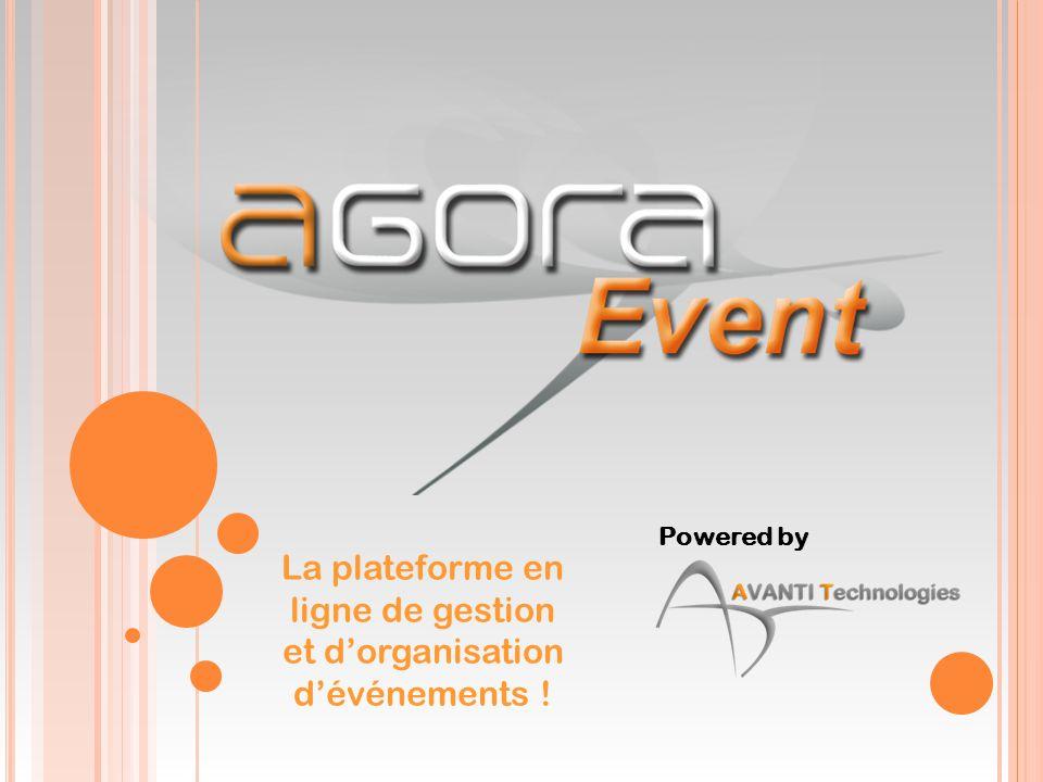 La plateforme en ligne de gestion et d'organisation d'événements !