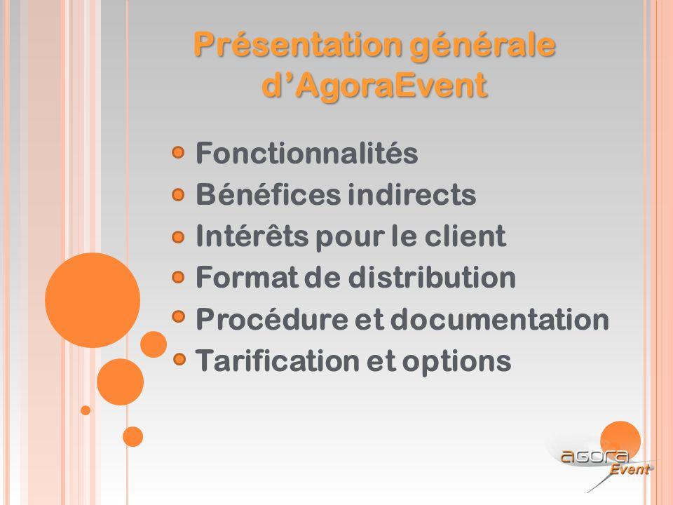 Présentation générale d'AgoraEvent