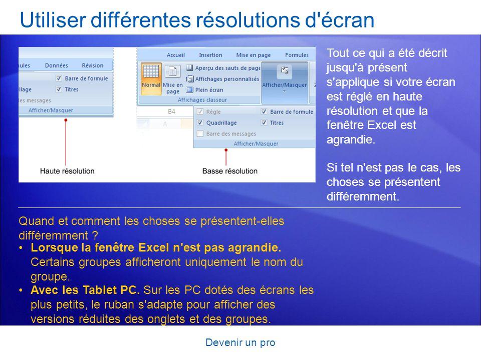 Utiliser différentes résolutions d écran