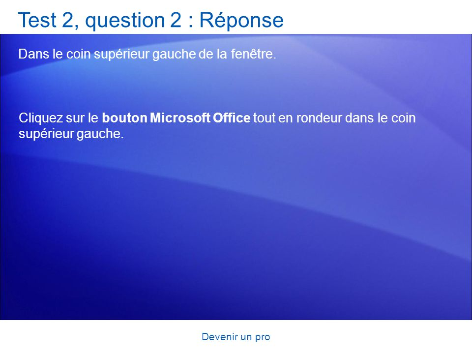 Test 2, question 2 : Réponse