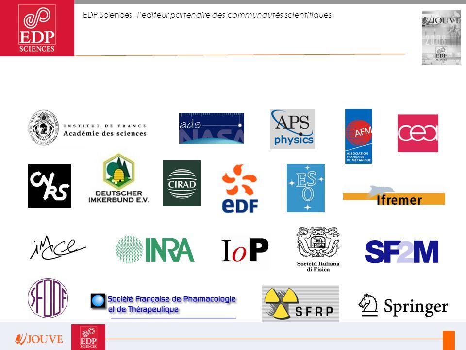 EDP Sciences, l'éditeur partenaire des communautés scientifiques
