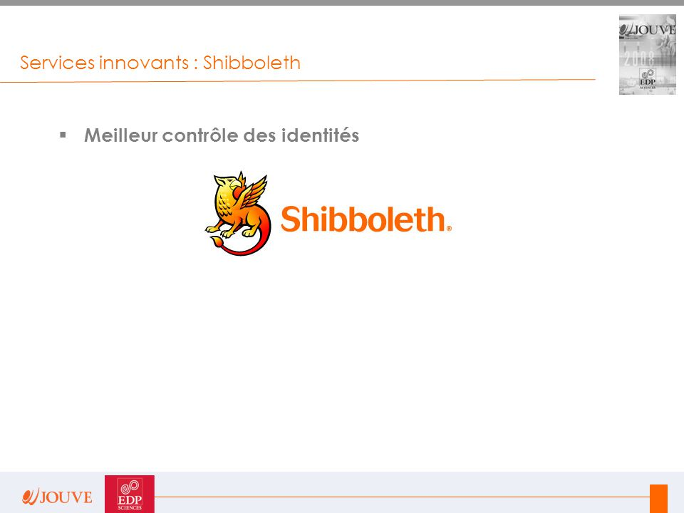 Services innovants : Shibboleth