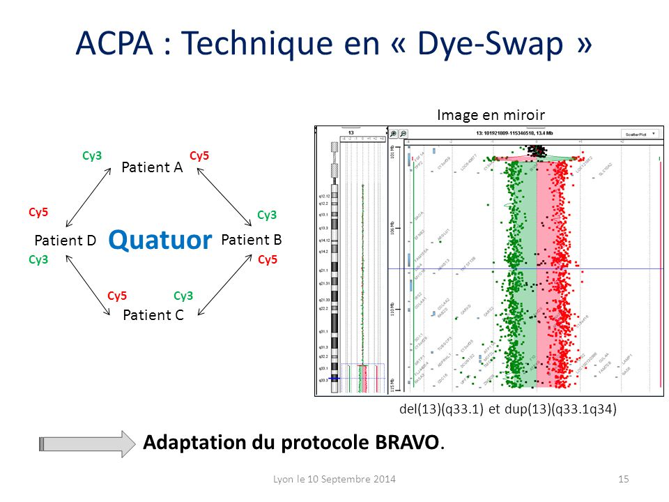 ACPA : Technique en « Dye-Swap »