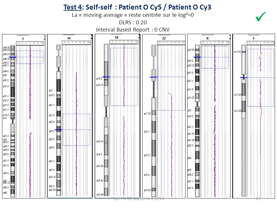 Test 4: Self-self : Patient O Cy5 / Patient O Cy3