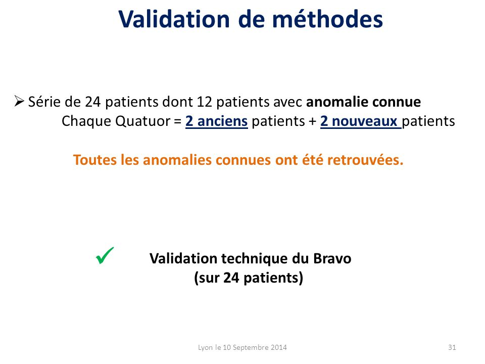 Validation de méthodes