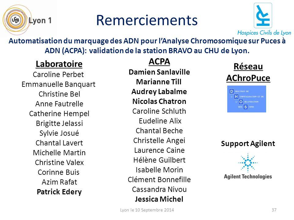 Remerciements ACPA Laboratoire Réseau AChroPuce