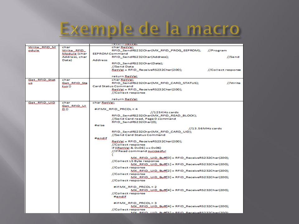 Exemple de la macro