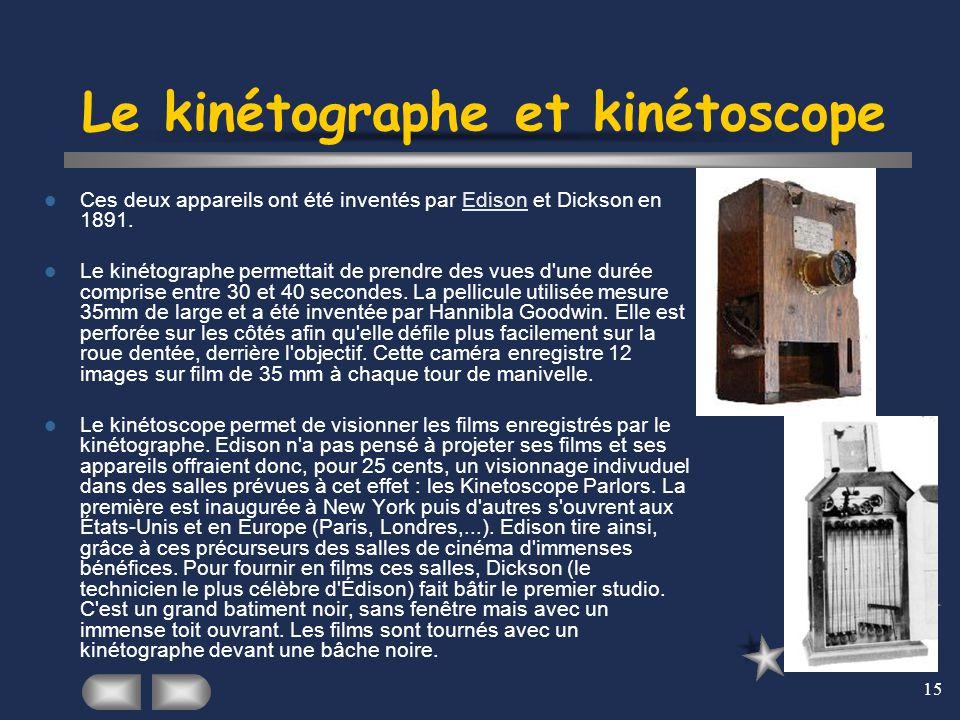 Le kinétographe et kinétoscope