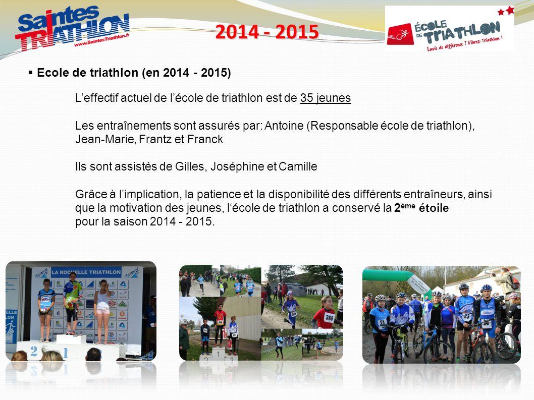 2014 - 2015 Ecole de triathlon (en 2014 - 2015)