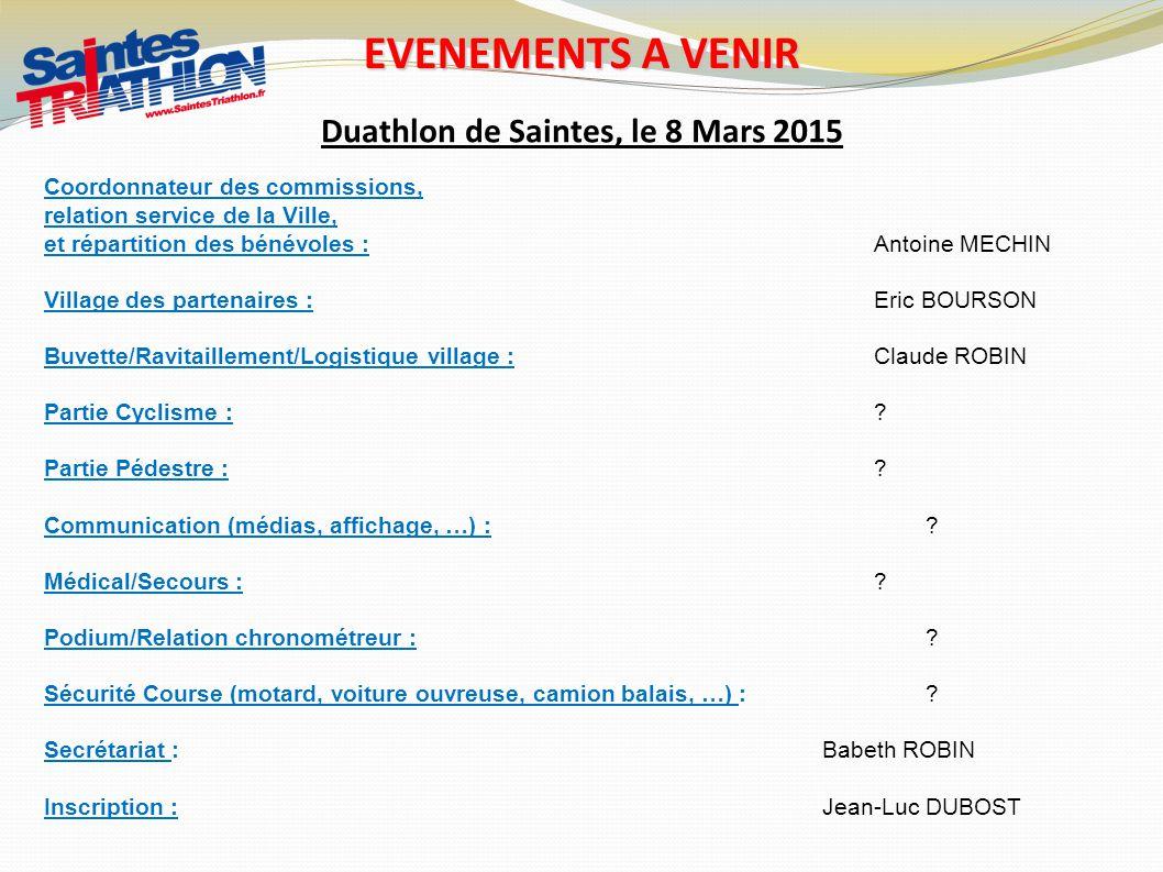 Duathlon de Saintes, le 8 Mars 2015