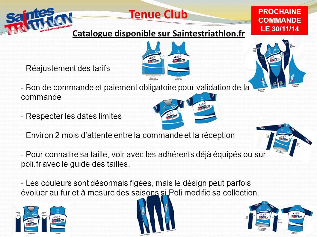 Tenue Club Catalogue disponible sur Saintestriathlon.fr