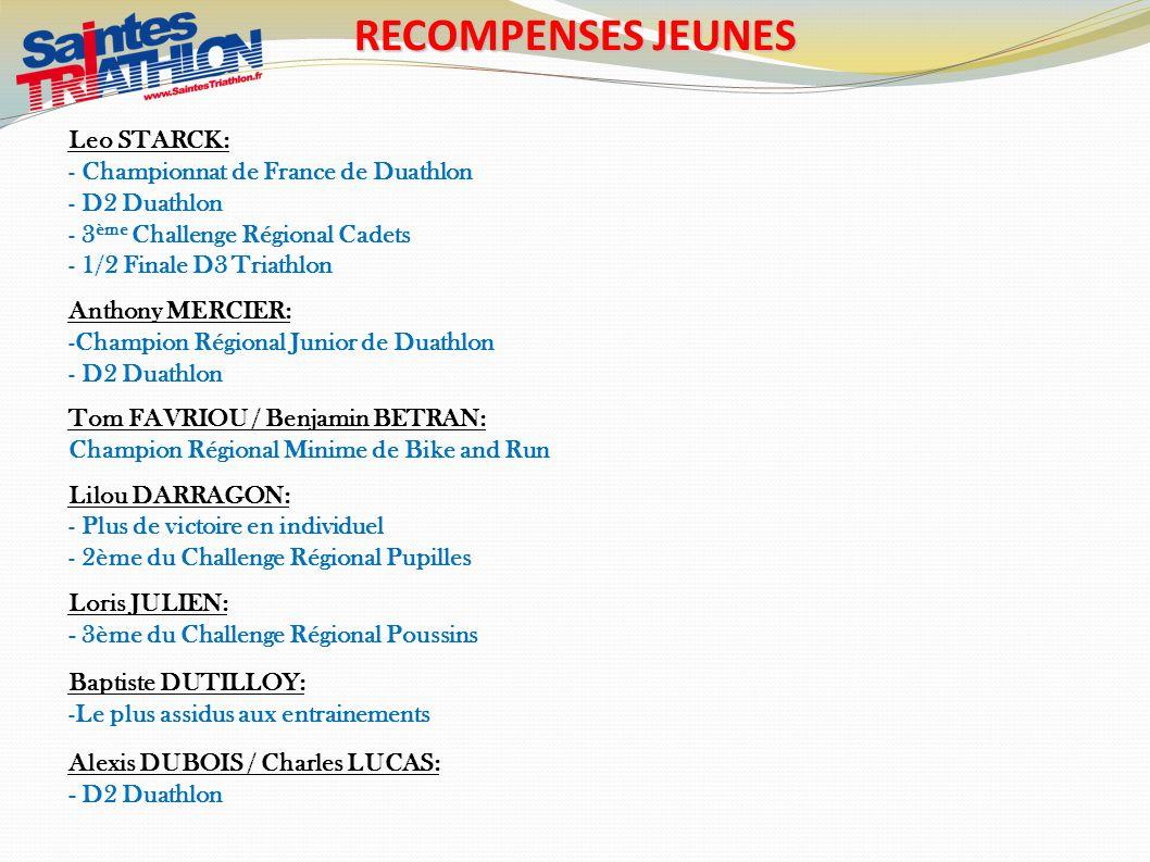 RECOMPENSES JEUNES Leo STARCK : Championnat de France de Duathlon