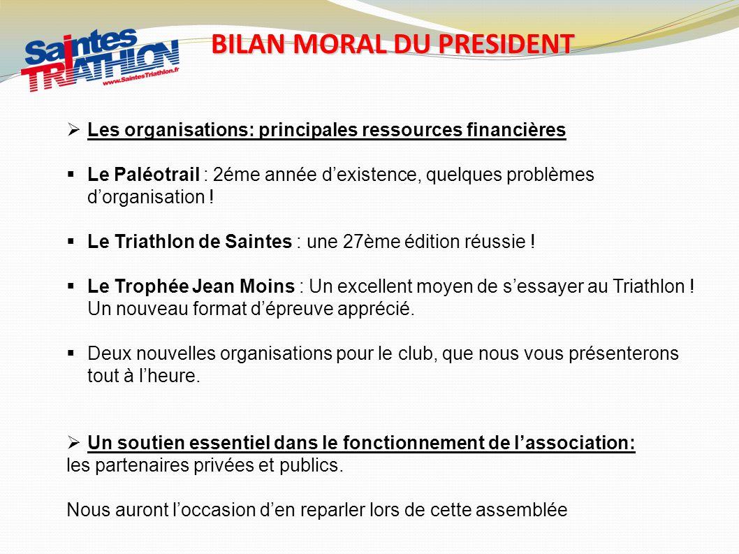 BILAN MORAL DU PRESIDENT