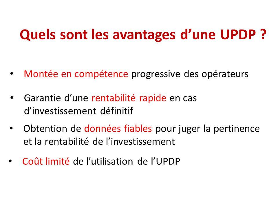 Quels sont les avantages d'une UPDP
