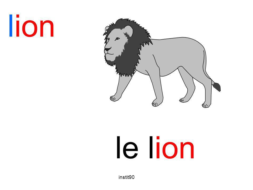 lion le lion instit90