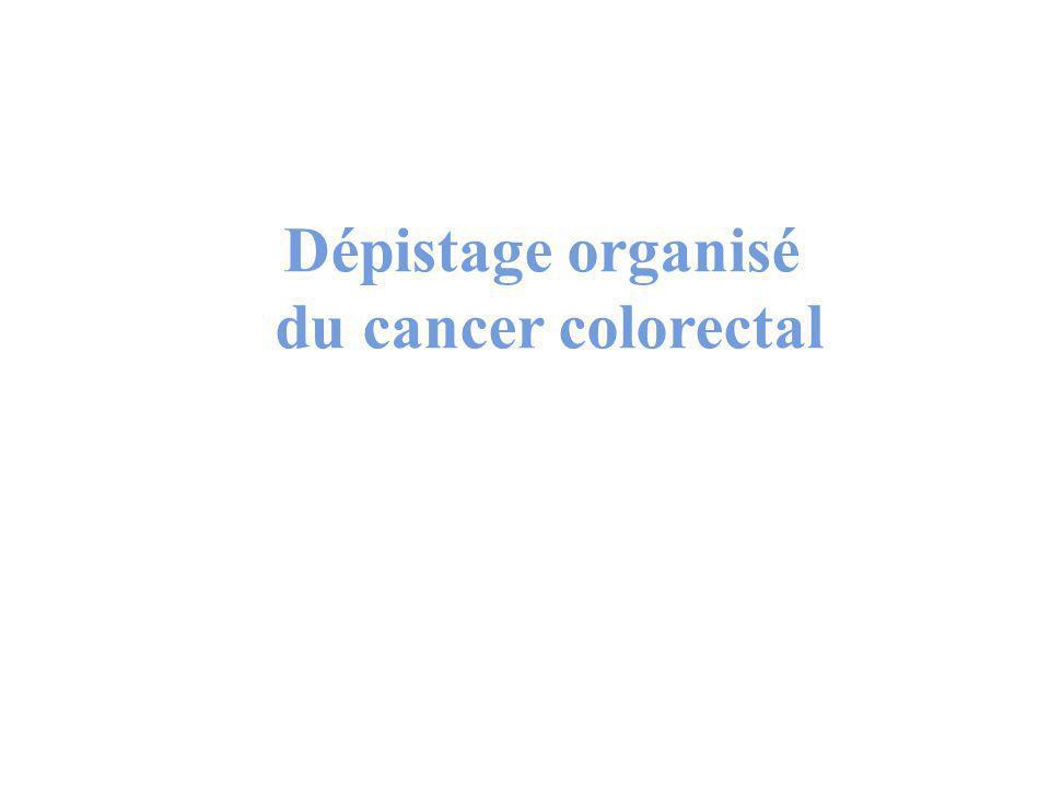 Dépistage organisé du cancer colorectal