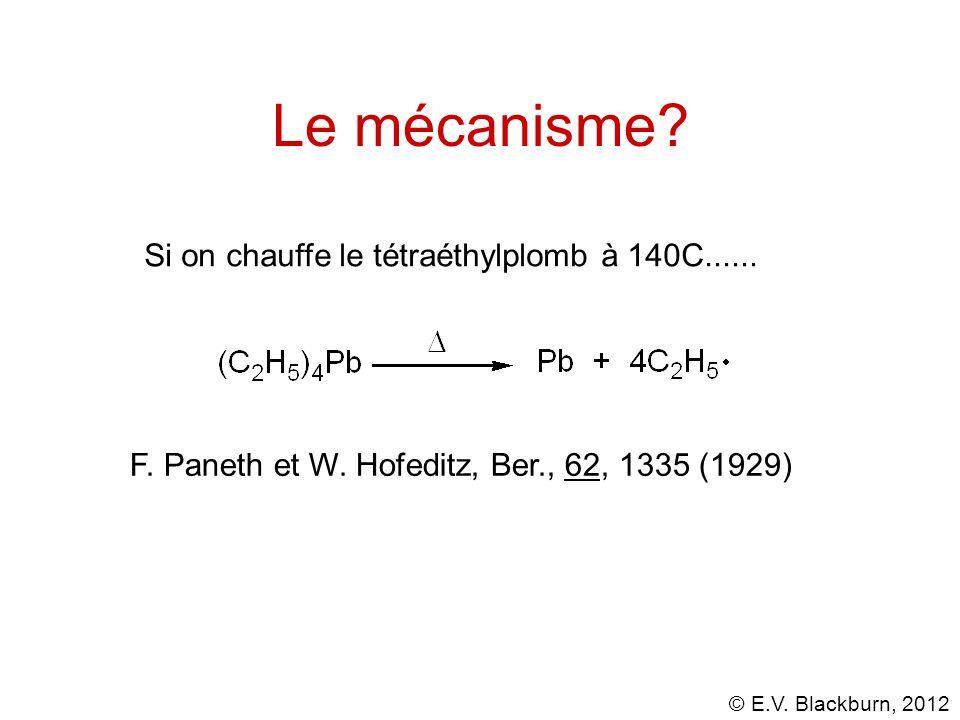 Le mécanisme Si on chauffe le tétraéthylplomb à 140C......