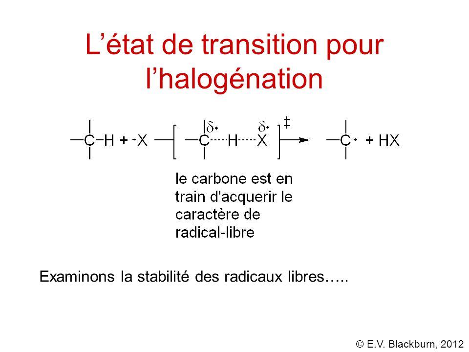L'état de transition pour l'halogénation