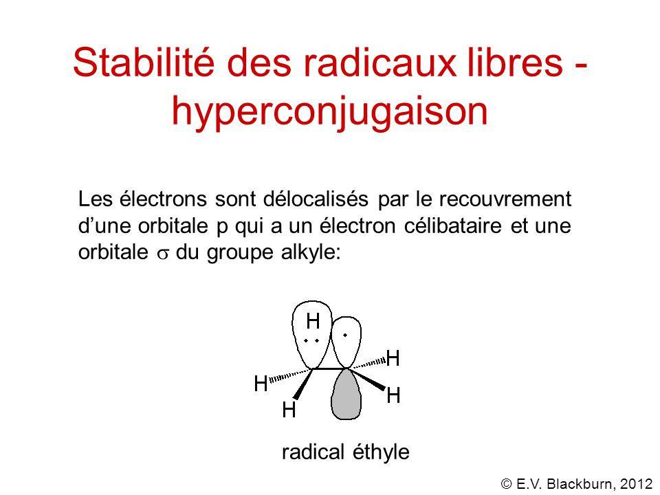 Stabilité des radicaux libres - hyperconjugaison