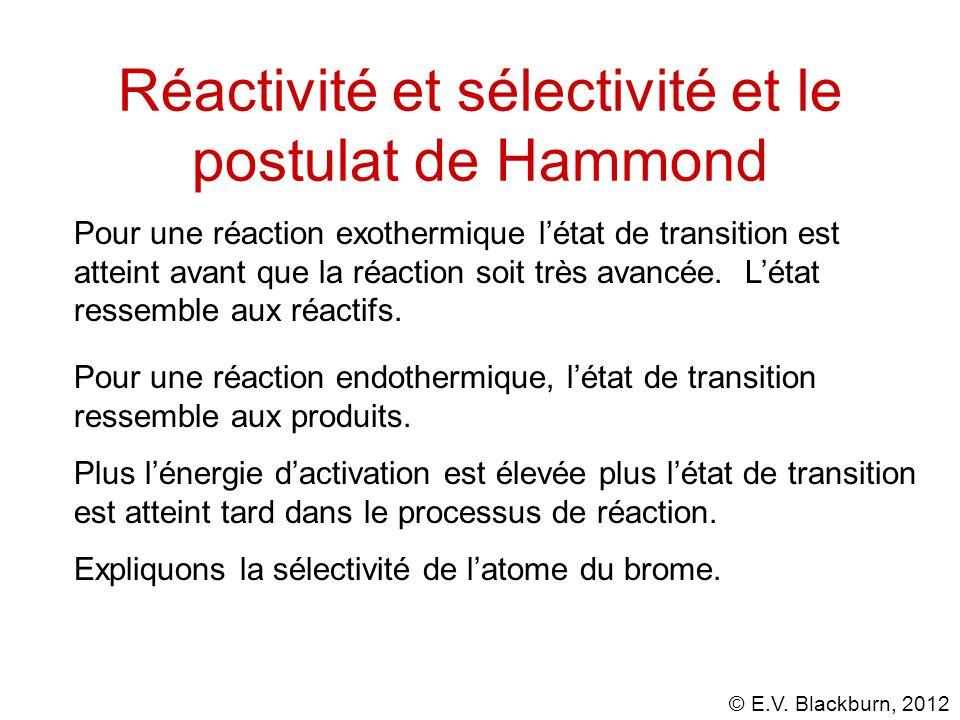 Réactivité et sélectivité et le postulat de Hammond