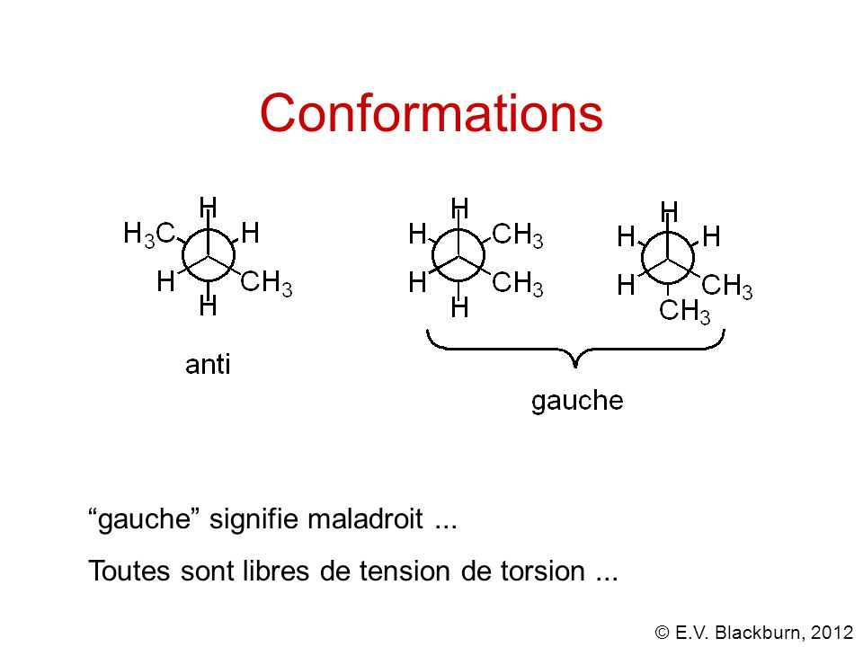 Conformations gauche signifie maladroit ...