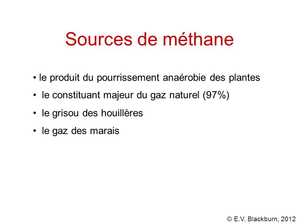 Sources de méthane le produit du pourrissement anaérobie des plantes