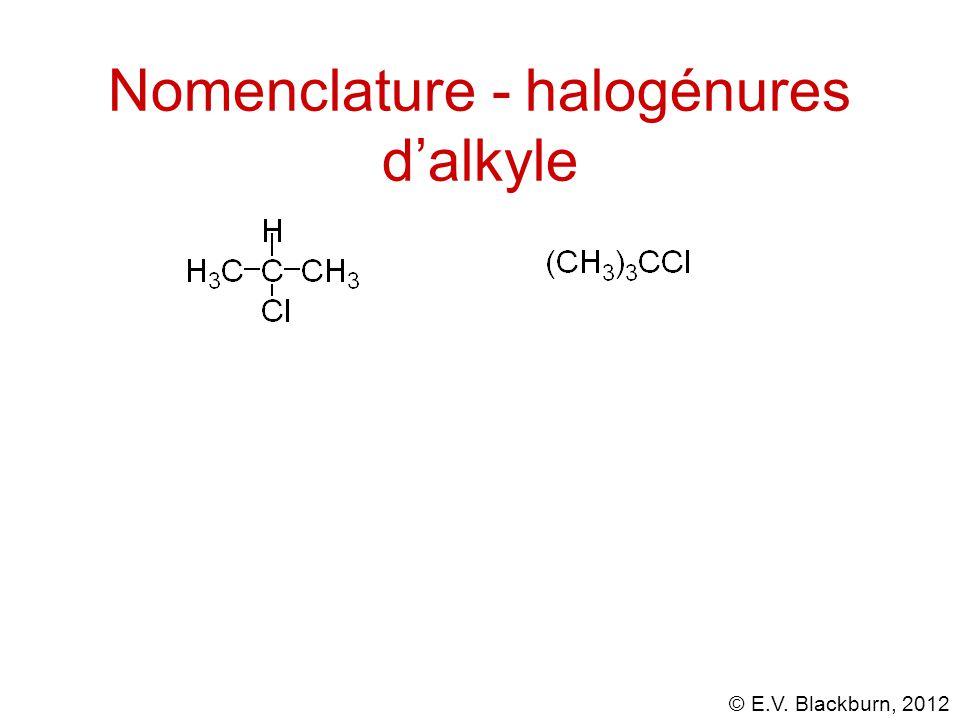 Nomenclature - halogénures d'alkyle