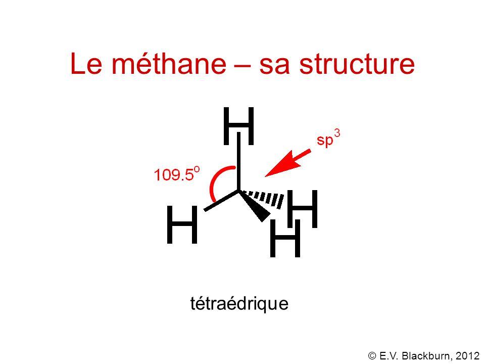 Le méthane – sa structure