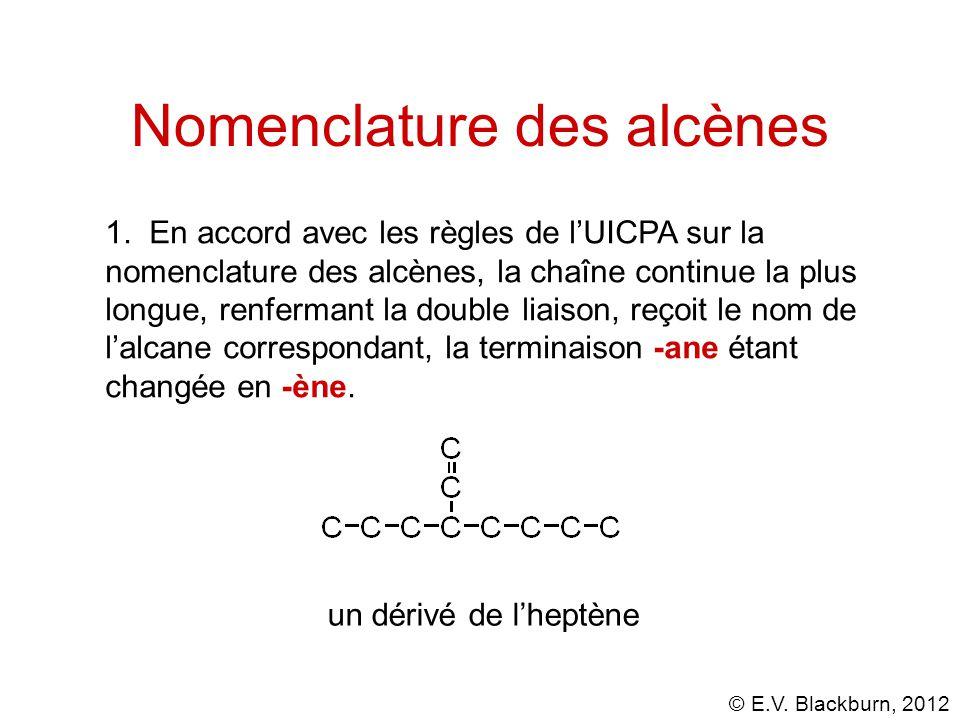 Nomenclature des alcènes