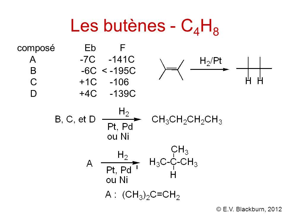 Les butènes - C4H8 composé Eb F A -7C -141C B -6C < -195C