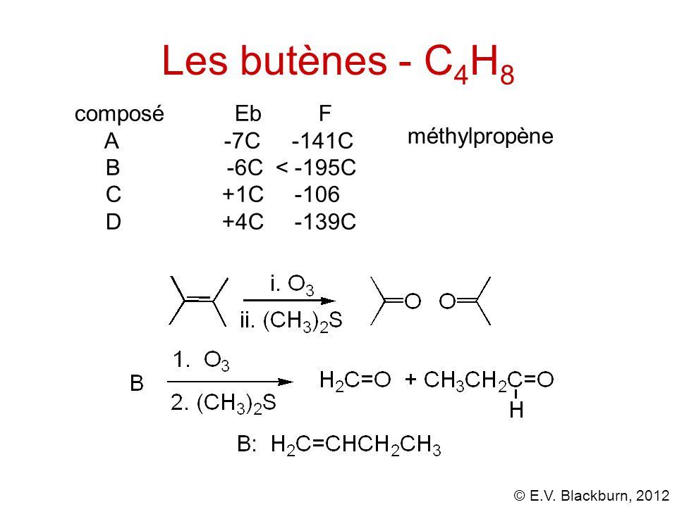 Les butènes - C4H8 composé Eb F A -7C -141C méthylpropène