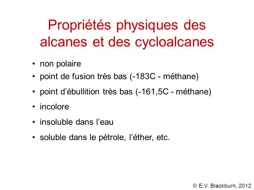 Propriétés physiques des alcanes et des cycloalcanes