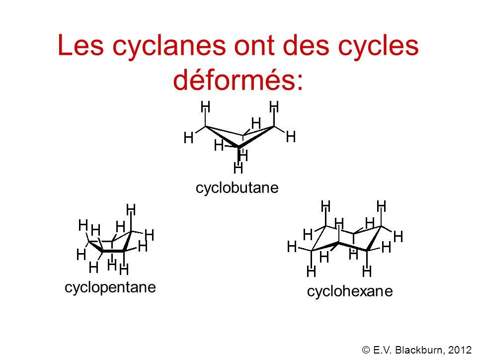 Les cyclanes ont des cycles déformés: