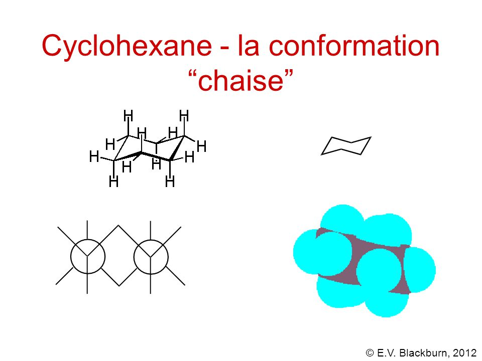 Cyclohexane - la conformation chaise